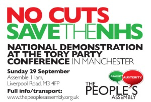 National Demonstration at the Tory Party Conference in Manchester